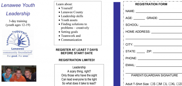 Lenawee Youth Leadership Summer Day Camp