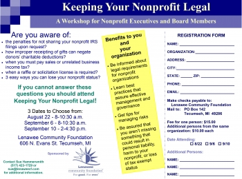Keeping your Nonprofit Legal